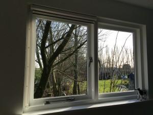 Het raam van de huiskamer