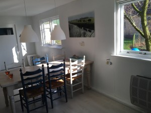 De tafel in de huiskamer